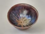 melon bowl - cast porcelain, manganese glaze, cone 10
